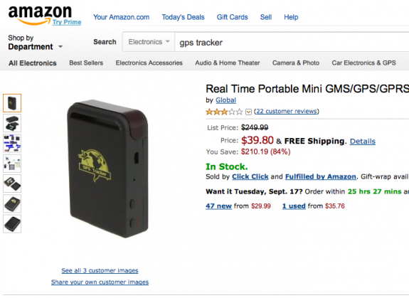 Amazon Real Time Portable Mini GMS/GPS/GPRS Tracker